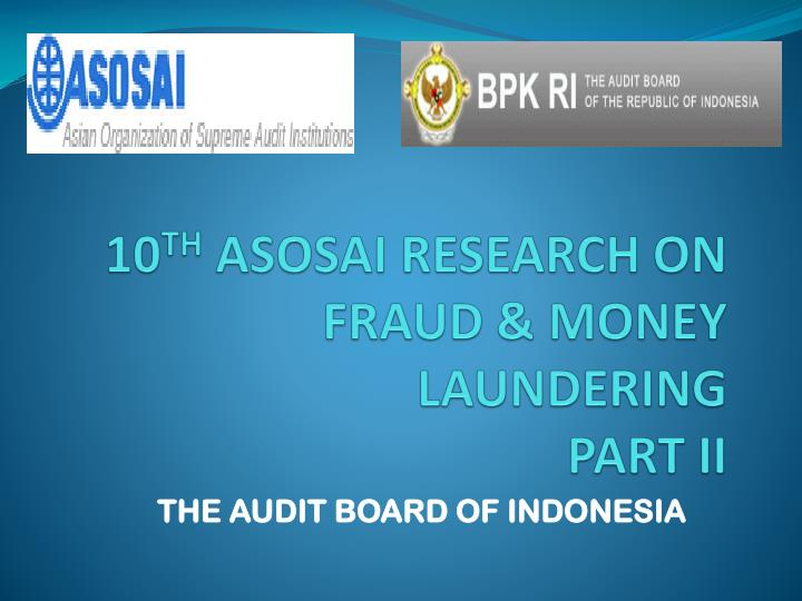 10 th asosai research on fraud money laundering part ii