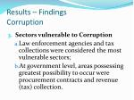 results findings corruption2