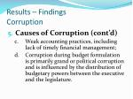 results findings corruption5