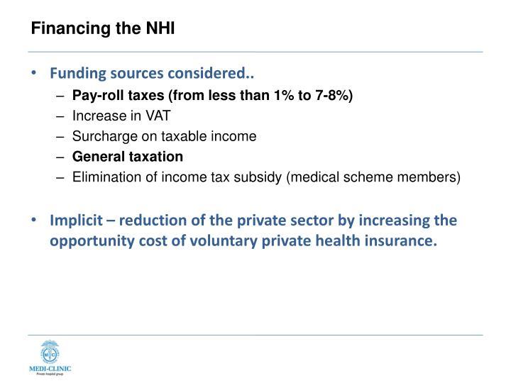 Financing the NHI