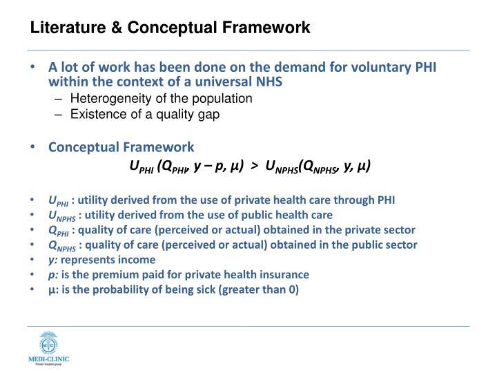 Literature & Conceptual Framework