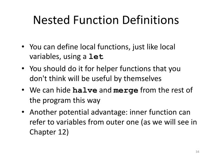 Nested Function Definitions