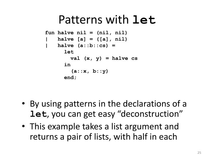 Patterns with