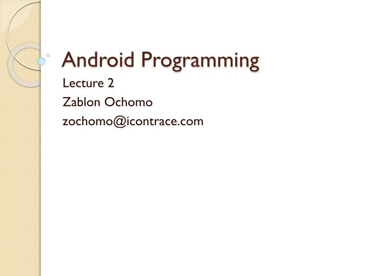 android programming n.