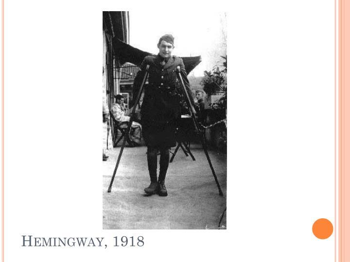 Hemingway, 1918