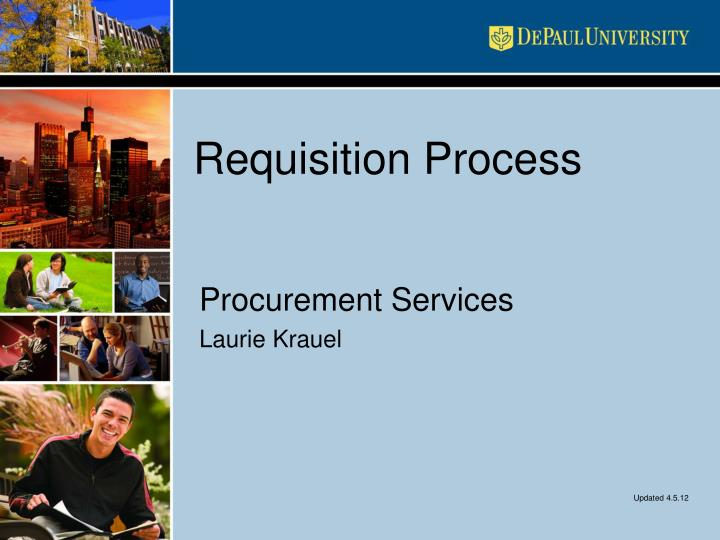 requisition process n.