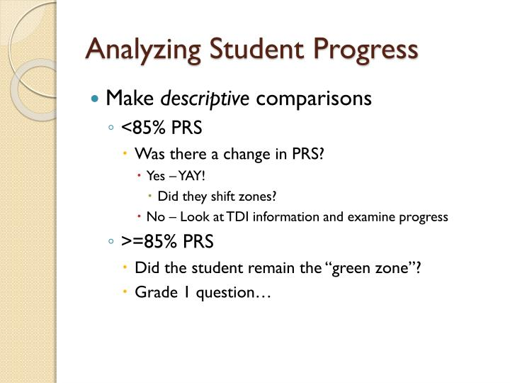 Analyzing Student Progress