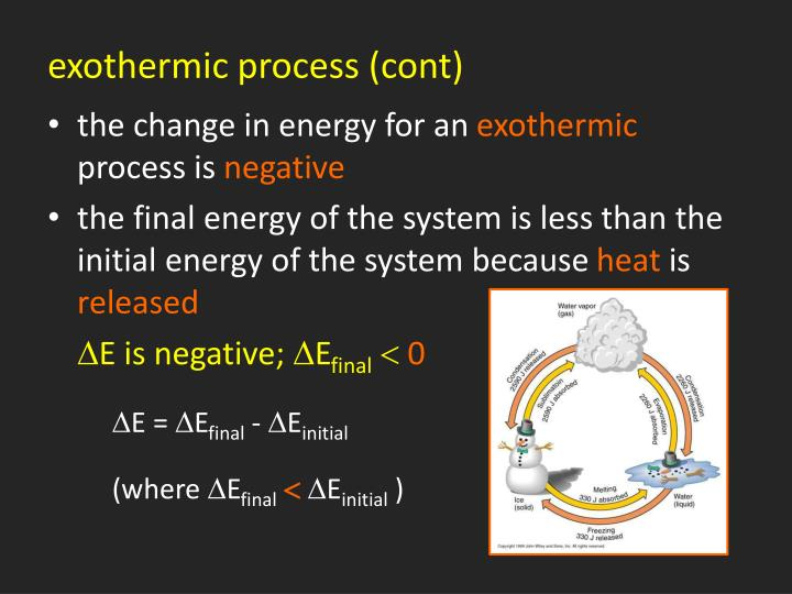 exothermic process (cont)