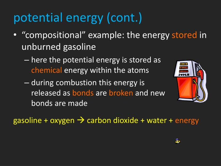 potential energy (cont.)