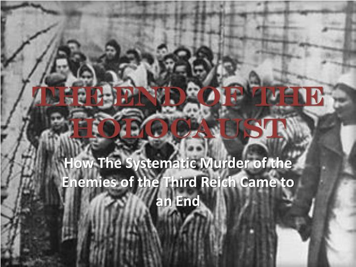 the end of the holocaust n.