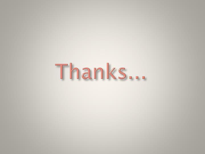 Thanks...
