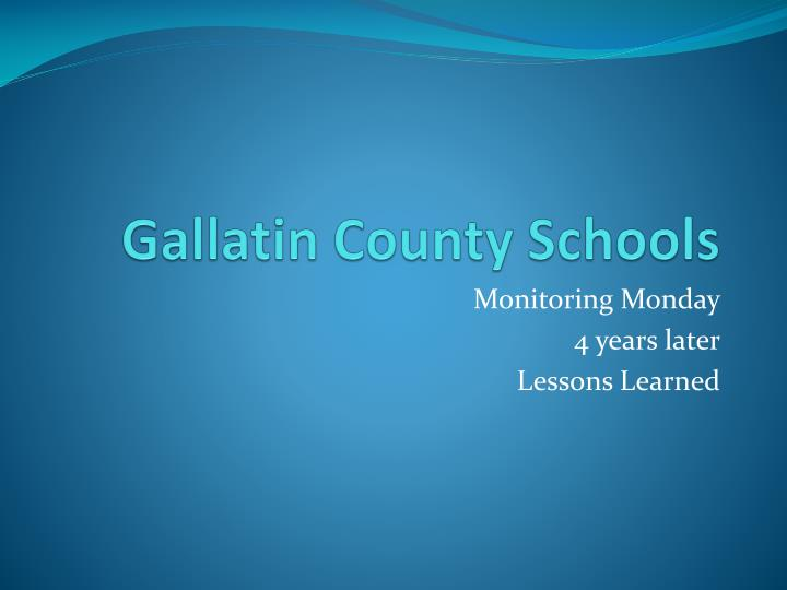 Gallatin County Schools