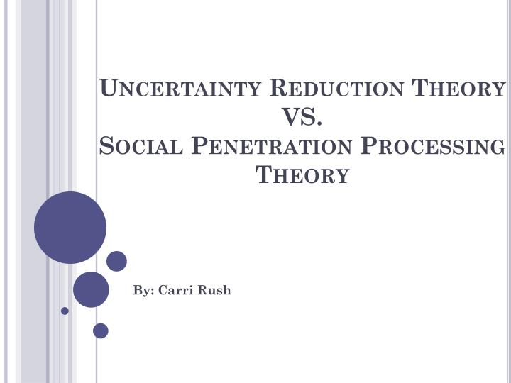 PPT - Uncertainty Reduction Theory VS. Social Penetration