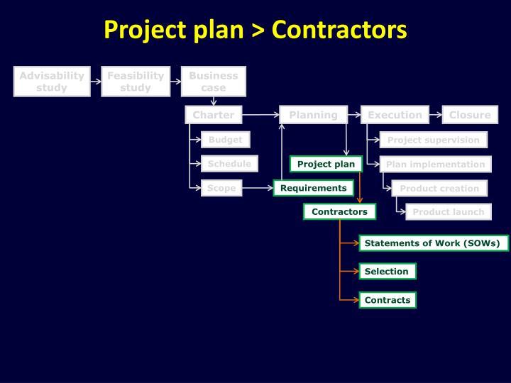 Project plan contractors