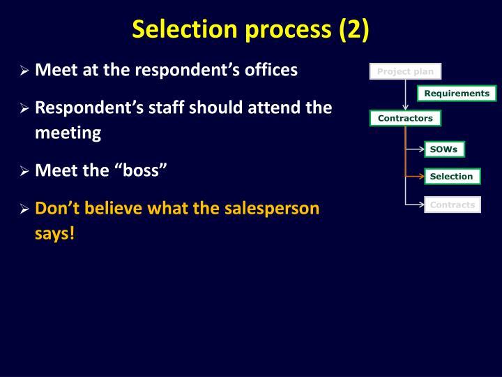 Selection process (2)