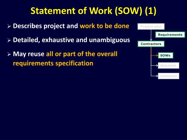 Statement of Work (SOW) (1)