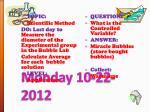 monday 10 22 2012