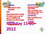 monday 11 05 2012
