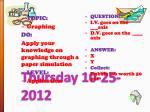 thursday 10 25 2012