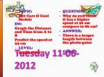 tuesday 11 06 2012