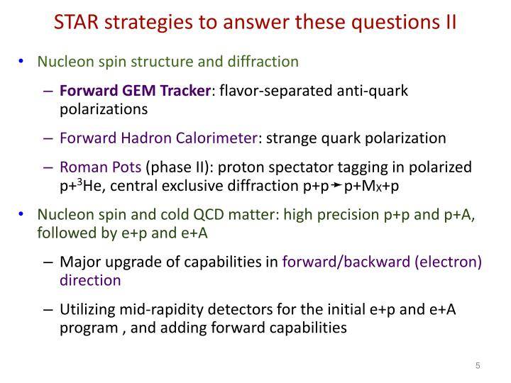 STAR strategies to answer these questions II