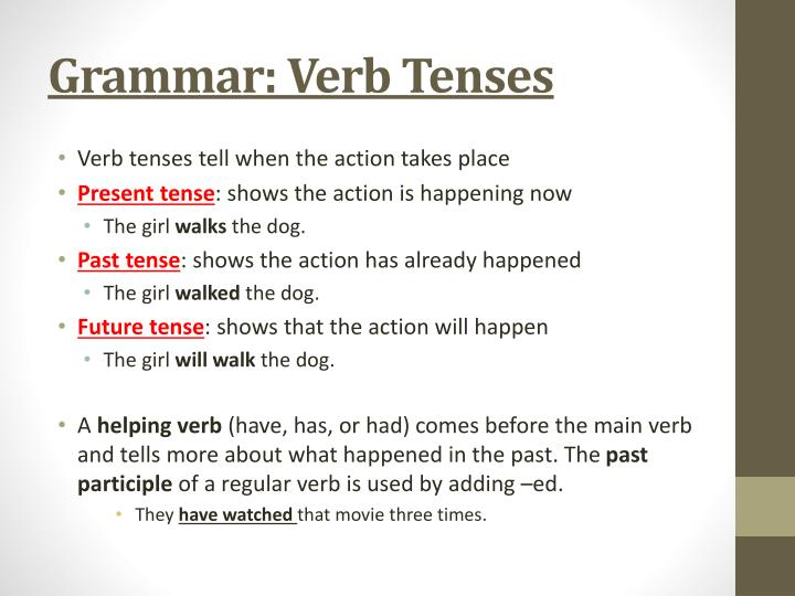 Grammar: Verb Tenses