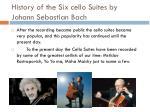 history of the six cello suites by johann sebastian bach2