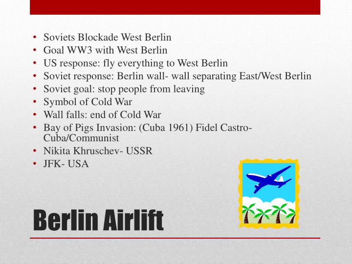 Soviets Blockade West Berlin