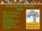 legacies of the new deal