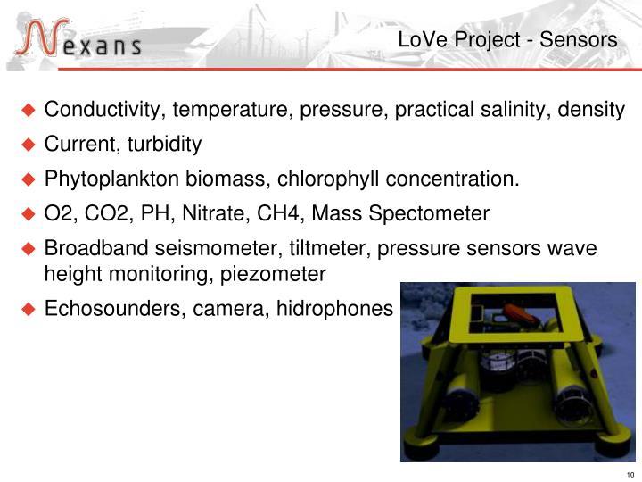 LoVe Project - Sensors