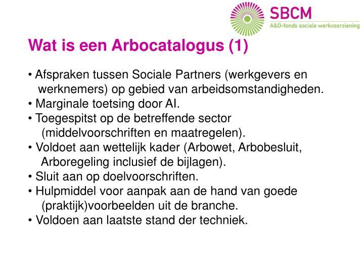 Wat is een Arbocatalogus?
