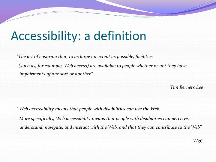 Accessibility a definition