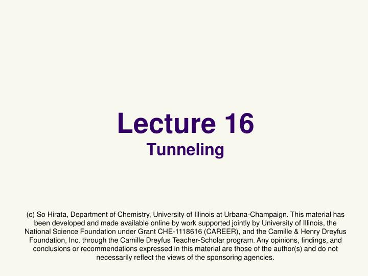 lecture 16 tunneling n.