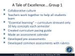 a tale of excellence group 1
