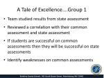 a tale of excellence group 11