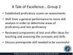 a tale of excellence group 2