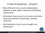 a tale of excellence group 5
