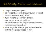 pair activity what do you already know