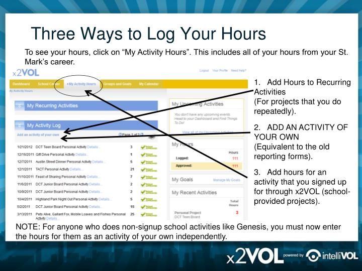 Three Ways to Log Your Hours