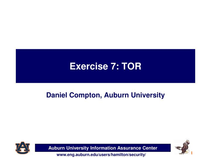 exercise 7 tor n.