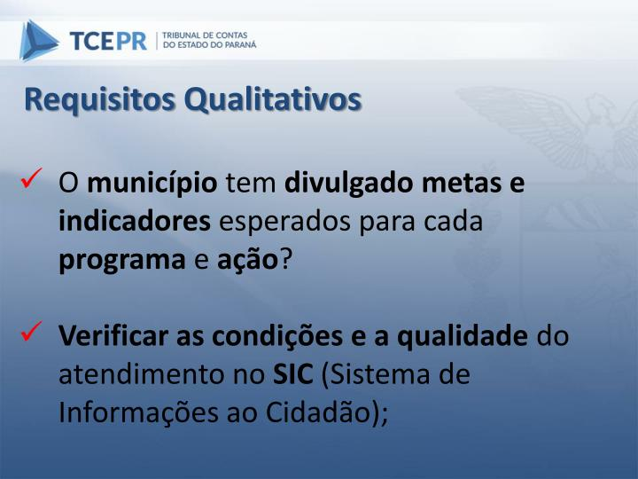Requisitos Qualitativos
