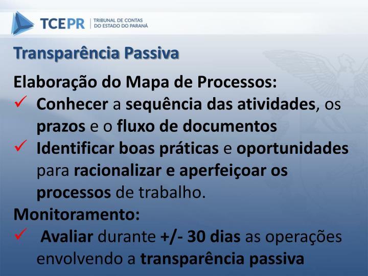 Transparência Passiva
