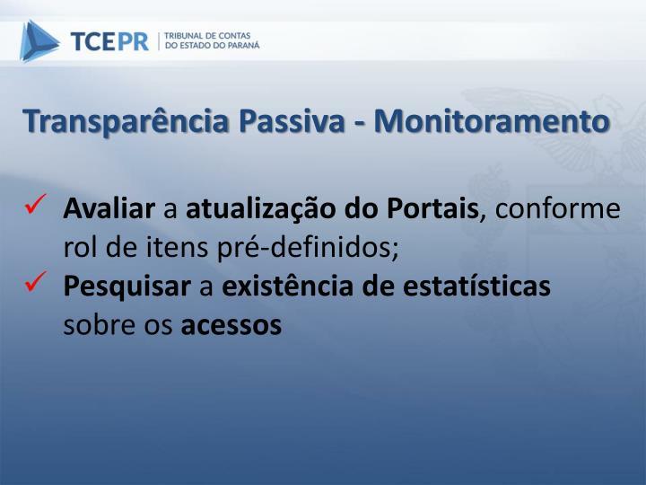 Transparência Passiva -