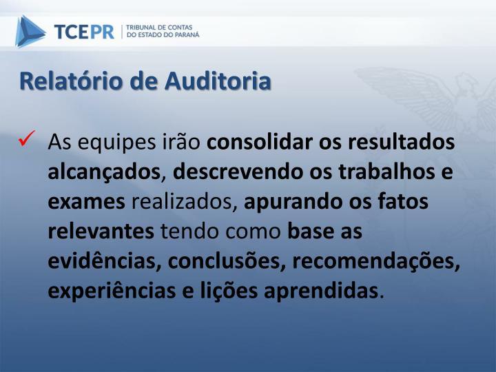 Relatório de Auditoria
