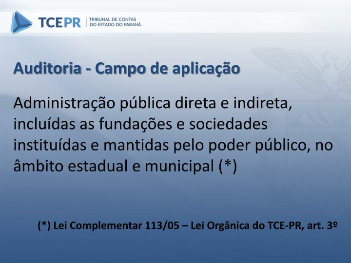 Auditoria - Campo
