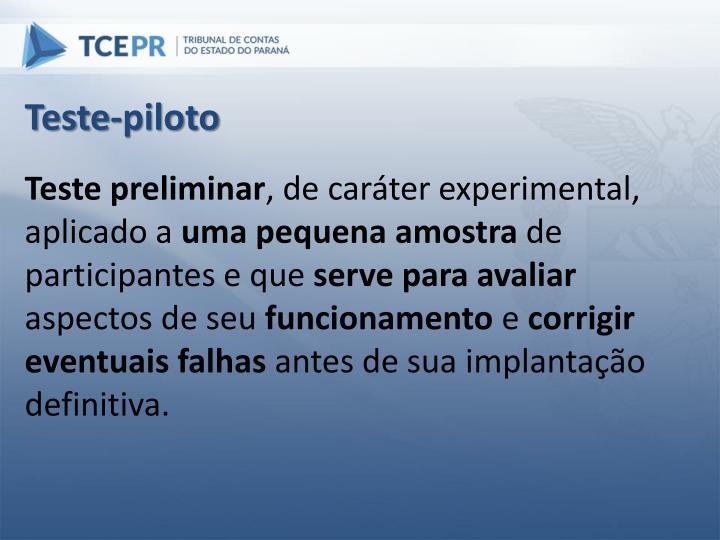 Teste-piloto