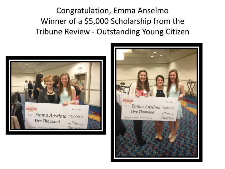 Congratulation, Emma