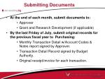 submitting documents