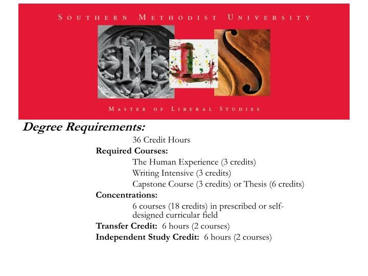 Degree Requirements: