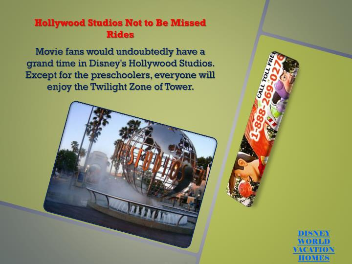 Hollywood Studios Not to Be Missed Rides